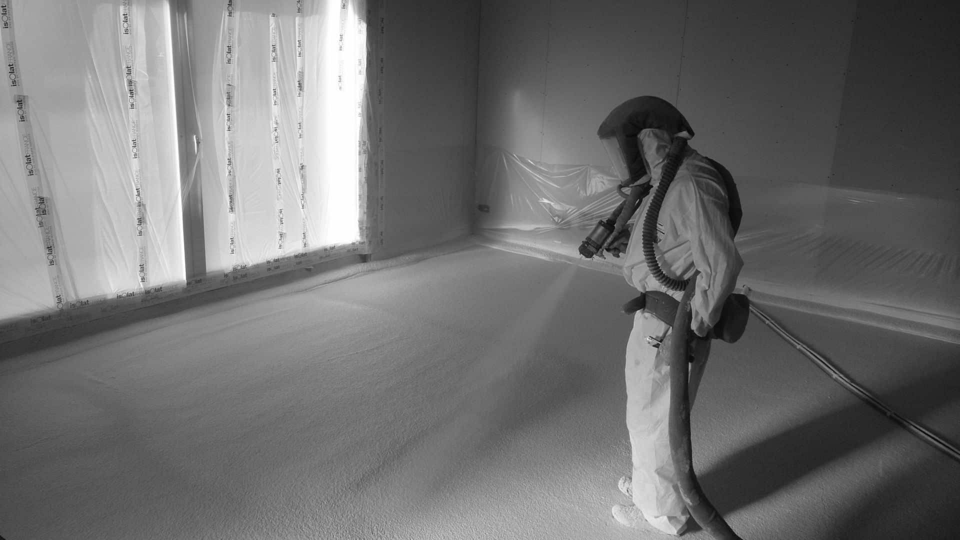 isolation projection polyuréthane dans votre maison pour l'isolation du sol maupin